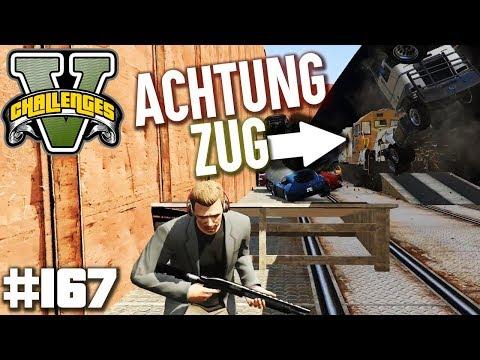 LUSORS GEGENEINANDER - ACHTUNG EIN ZUG FÄHRT DURCH | GTA 5 Challenges