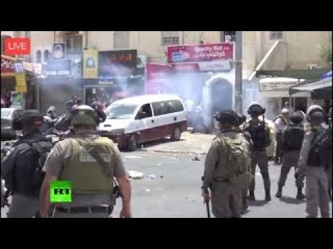 Clashes between Palestinians and Israeli police in West Bank (streamed live)