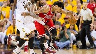 D-Rose and Kyrie Duel it Out in First Playoff Meeting