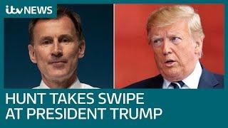 Diplomatic row between Donald Trump and the UK heats up | ITV News