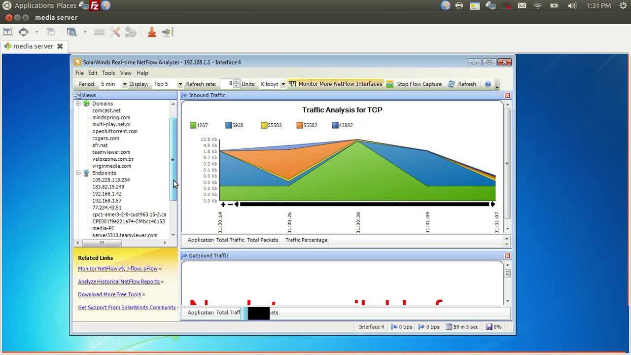 Configuring Netflow On Cisco Router And Solar Winds Netflow Analyzer Youtube
