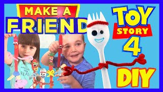 Toy Story 4 DIY FORKY & Friends! Easy Crafts for Kids!