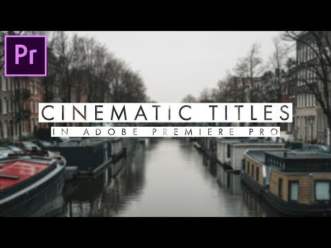 How to create CINEMATIC TITLES in Adobe Premiere Pro | Video Editing Tutorial | Trishit Saha thumbnail