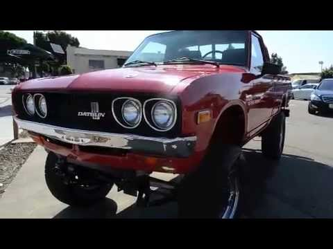 Sold  Super-modified 1975 Datsun 620 4x4 Pickup For Sale W  Aluminum V  8
