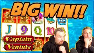 HUGE WIN!!! Captain Venture BIG WIN!! Gambling on Casino Games from CasinoDaddy