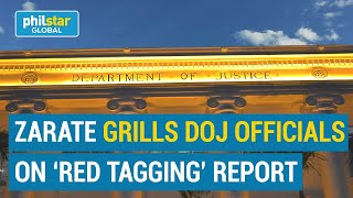Zarate grills DOJ officials on 'red tagging' report on website