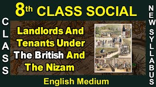 8th Class|Social|English Medium|Landlords And Tenants Under The British And The Nizam