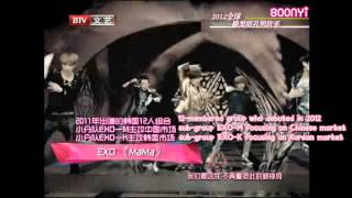 EXO - 130118 Music Billboard Chart - #3 Most Handsome Male Singers (eng subbed)