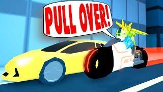 PULLING OVER FANS EN MI BICICLETA DE VOLT!! (Roblox Jailbreak)
