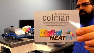 Digital HeatFX| 8432wt makes a custom hat, shirt and can cooler