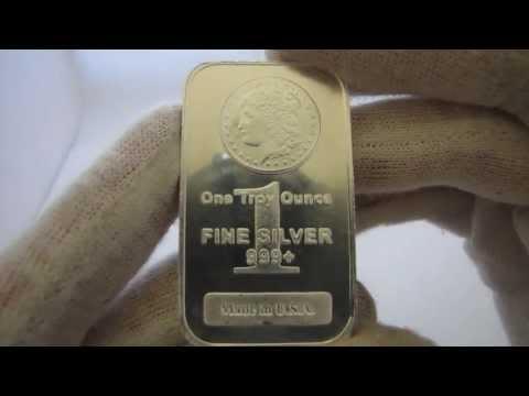 [HD] 1 oz Morgan Silver Bullion Bar