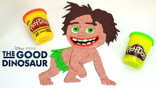 The Good Dinosaur: How to Draw Spot with PlayDoh - Un Gran Dinosaurio Trailer by supercool4kids