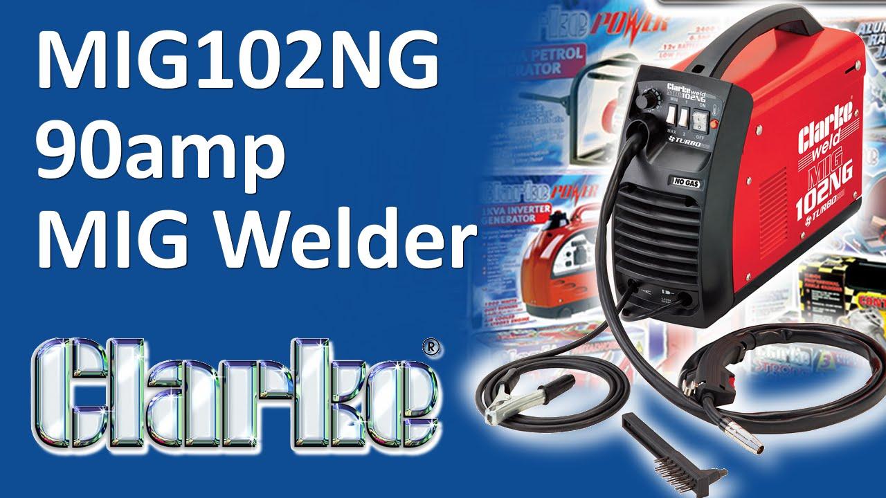 UNBOXING - MIG102NG 90amp No Gas MIG Welder - YouTube