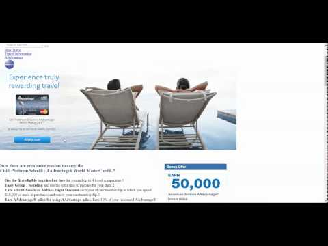 Citi American Airlines AAdvantage 30,000 & 50,000 Miles Credit Card