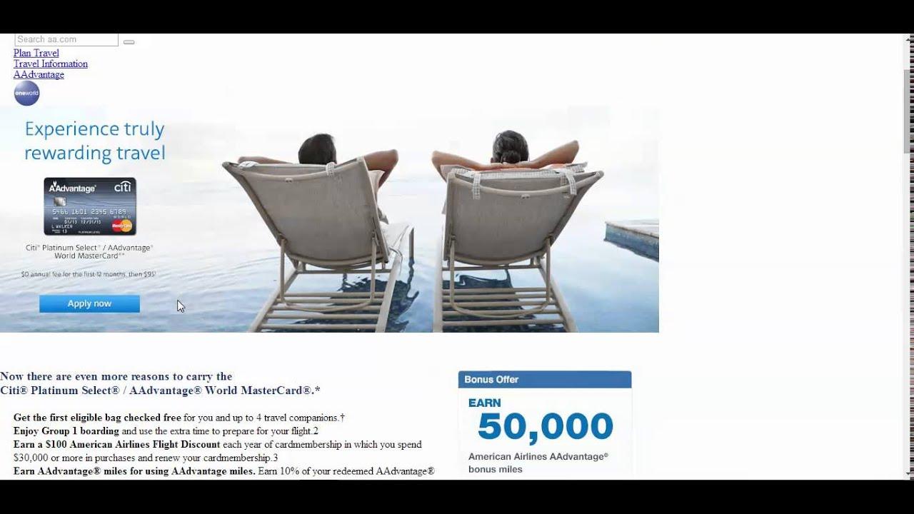 Citi American Airlines Aadvantage 30 000 Amp 50 000 Miles