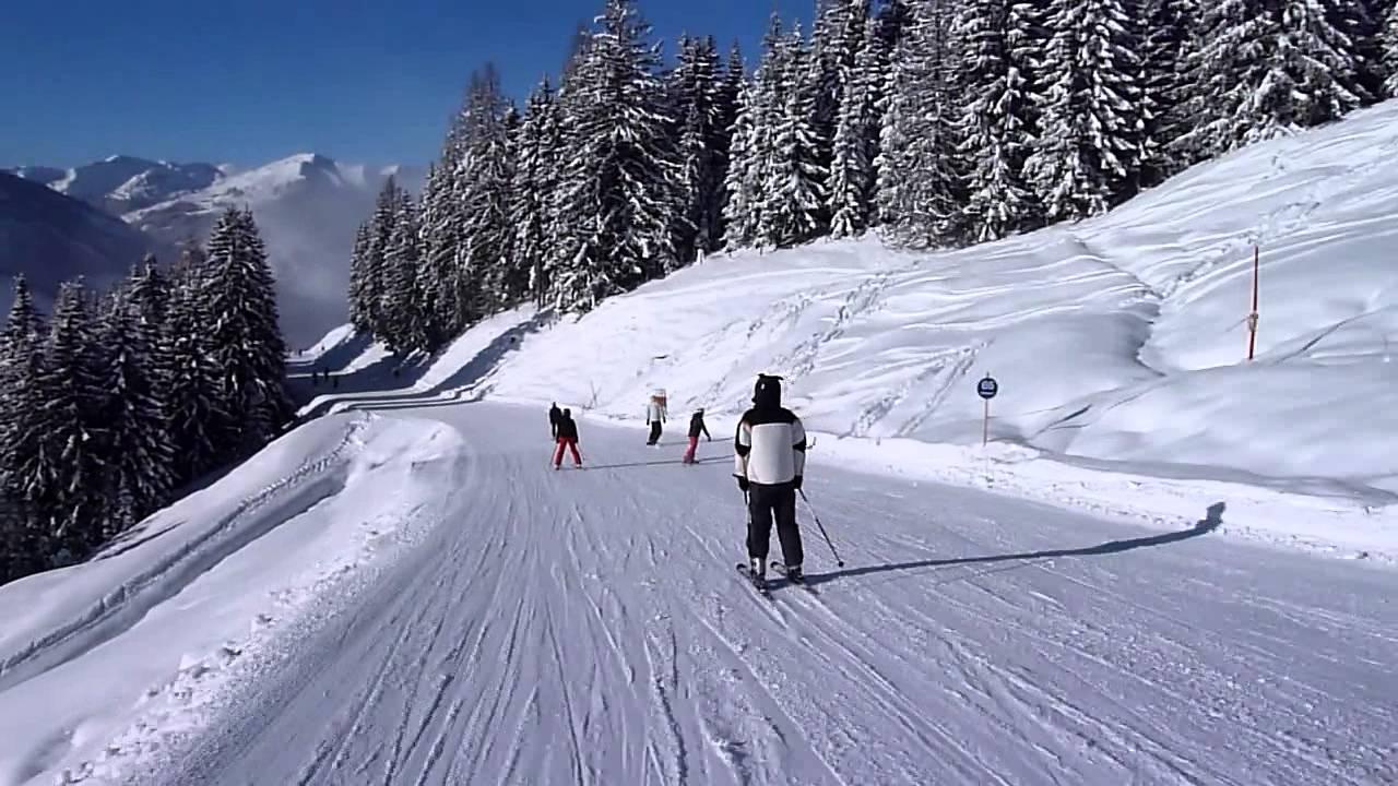 At Saalbach Hinterglemm Ski Ride From Bründlkopf To