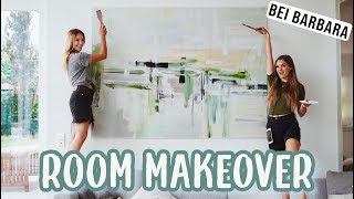 Malen mit Barbara Sofie - XXL Leinwand Wohnzimmer Room Makeover - Teil 7 // I'mJette