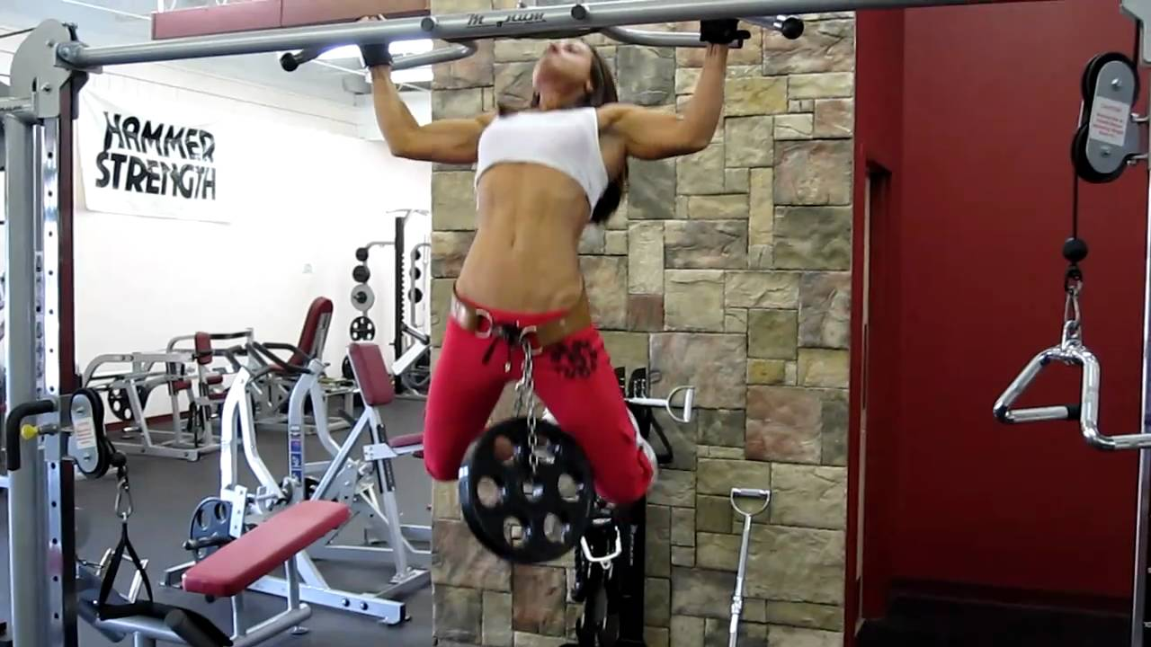 sarah pullups w 25 lb plate youtube. Black Bedroom Furniture Sets. Home Design Ideas