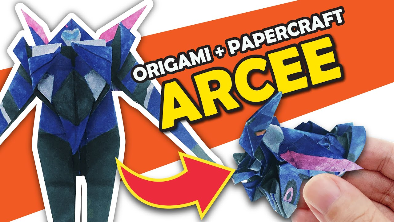 Origami AUTOBOT ARCEE with 3 straight cuts
