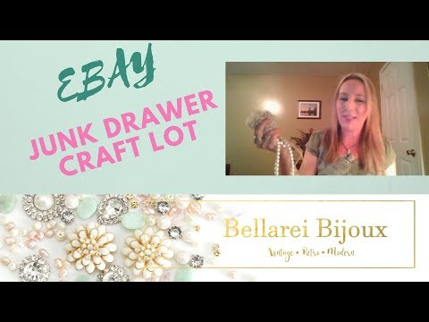 Vintage to Now Wearable, Junk Drawer, Craft, Re-purposing Jewelry Lot Haul.