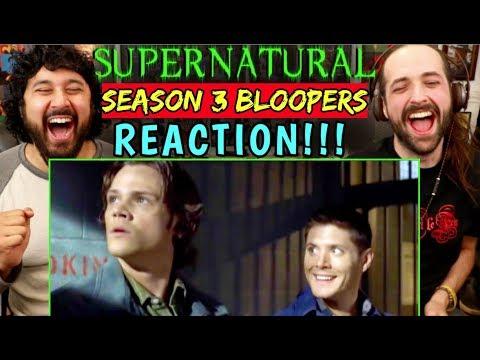 SUPERNATURAL - Season 3 BLOOPERS / GAG REEL | REACTION!!!