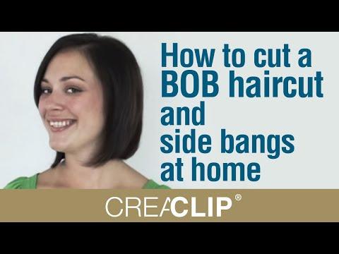 How to cut a BOB haircut and side bangs at home- Shoulder length bob.
