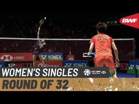 R32   WS   CHEN Yu Fei (CHN) [1] Vs. AN Se Young (KOR)   BWF 2020
