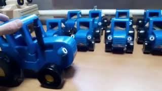 Синий трактор от фабрики Деревяшер