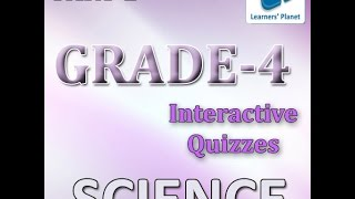 Fourth Class Science Interactive Quiz Online