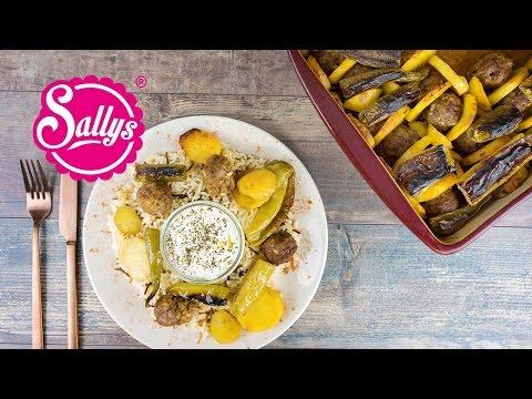 Kartoffel Kebab aus dem Ofen - einfaches und schnelles Hauptgericht / Sallys Welt