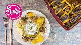 Kartoffel Kebab aus dem Ofen - einfaches und schnelles Hauptgericht