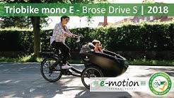 Triobike Mono E - Brose Drive S   Lastenfahrrad für Familien 2018