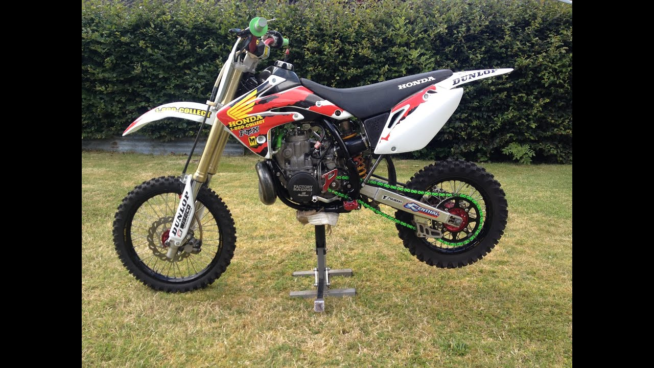 Honda Cr250 Small Wheel Crf150R Chassis first in the world - YouTube