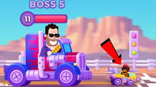 Racemasters: Clash of Cars - Gameplay Walkthrough Chapter 5 TRANSFORMER BOSS (iOS, Android)