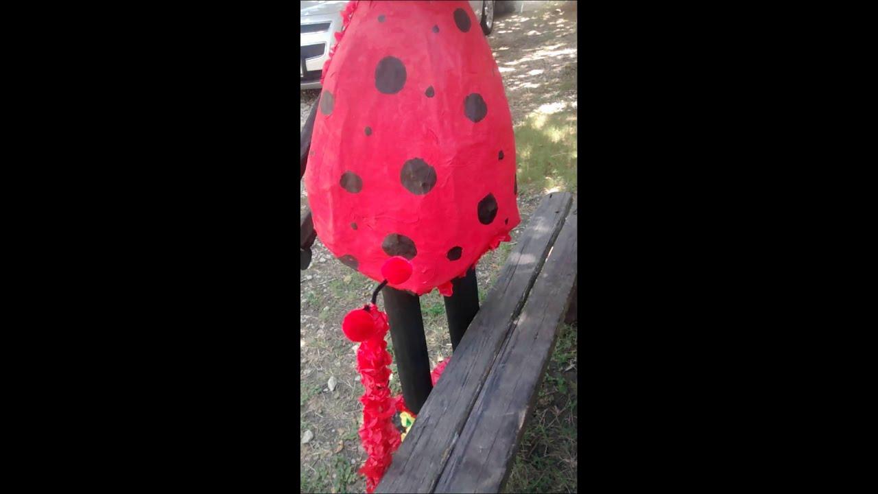 PIÑATA DE MARIQUITA //LADY BUG PINATA - YouTube