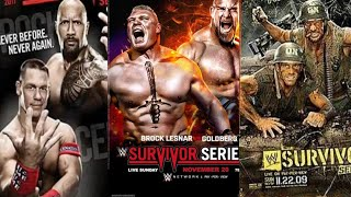 Evolution of Survivor  series all Posters(1989)to(2018)
