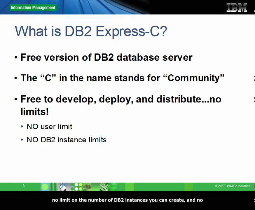 Introduction to DB2 Express-C - ChannelDB2