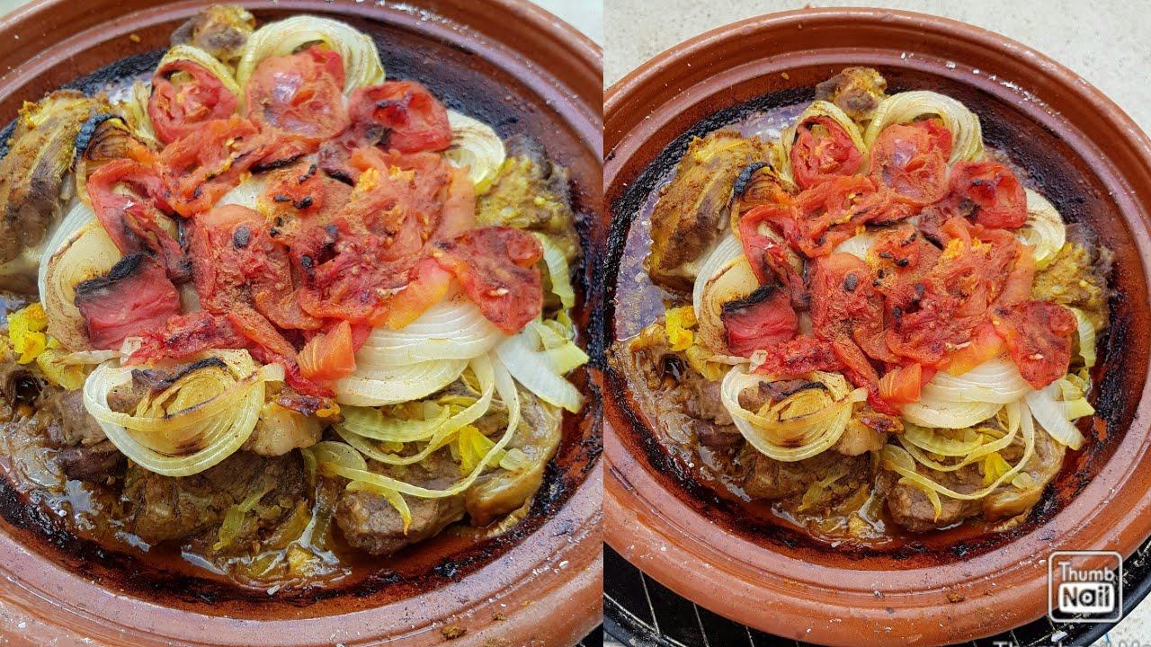 من شهيوات العيد طاجين المقفول 👌👌 من المطبخ المغربي  🤗 طاجين اللحم بين نارين على حقو و طريقو