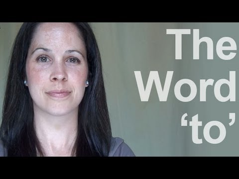 How to Pronounce the Word 'TO' - American English