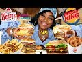 Download Burger King Triple Vs  Wendy's Triple Cheeseburger