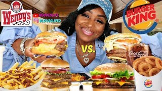 Burger King Triple Vs  Wendy\'s Triple Cheeseburger