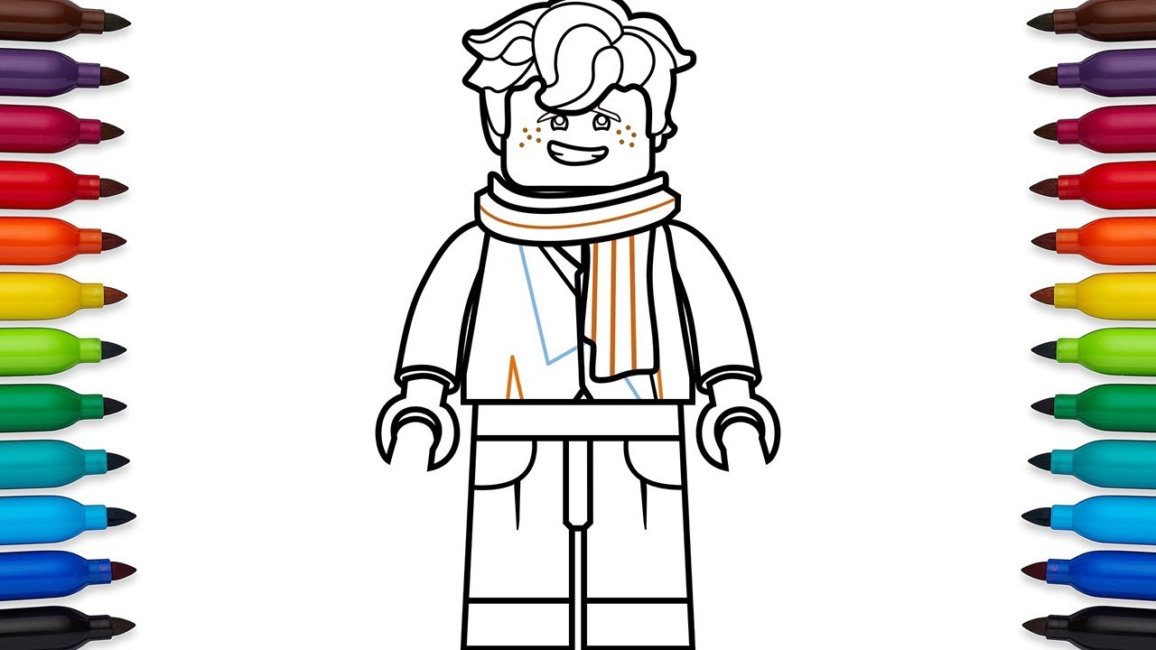 How To Draw Lego Ninjago Jay High School Outfit From The Lego
