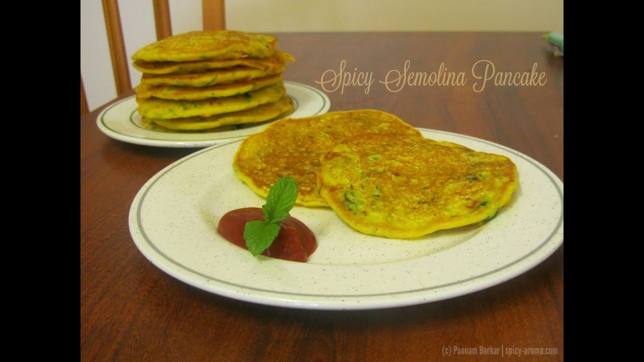 Spicy semolina pancakes instant rava sooji uttapam indian spicy semolina pancakes instant rava sooji uttapam indian breakfast recipe youtube ccuart Image collections