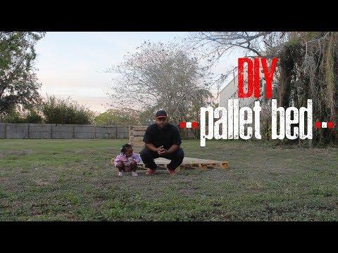 DIY Pallet bed frame - (King of Rnb Edition)