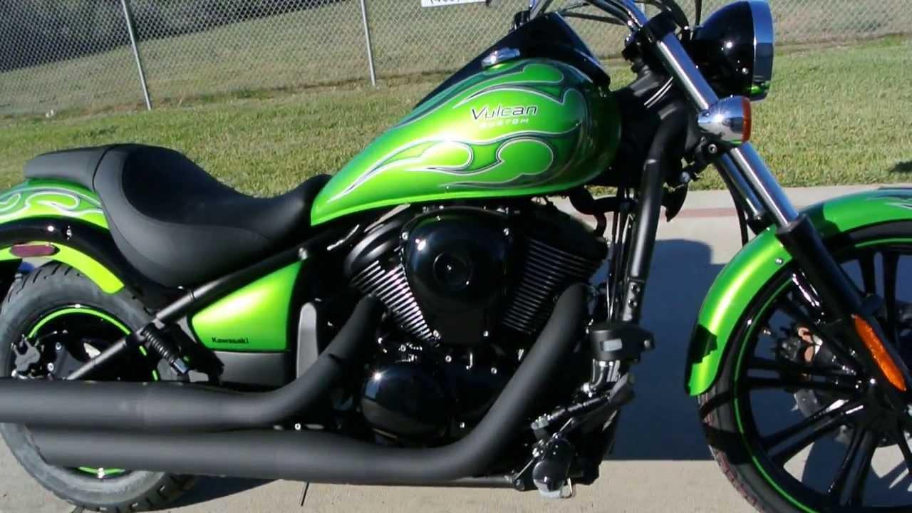 2014 kawasaki vulcan 900 custom candy lime green for sale $8499