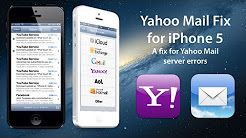 iPhone 5: Yahoo Mail Fix for server problems