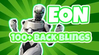FORTNITE EON SKIN Viewed with 100+ Backblings! Eon Set Showcase