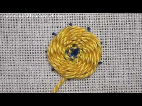 Woven Wheel / Woven Spider Web Stitch