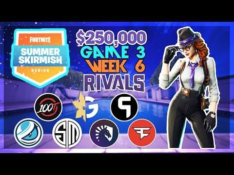 $250,000 🥊Rivals Summer Skirmish🥊 Week 6 Game 3 (Fortnite)