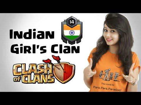 GIRL'S CLAN | CLASH OF CLANS | INDIAN GIRLS CLAN| WAR CLAN|